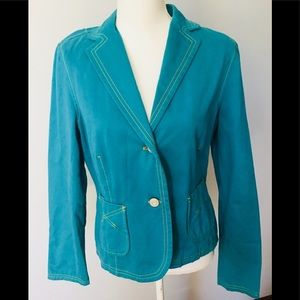 Gap Fully Lined Teal  Blazer Size 10